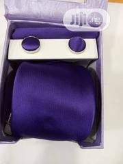 Set Of Purple Designers Corporate Tie With Cufflinks | Clothing Accessories for sale in Lagos State, Victoria Island