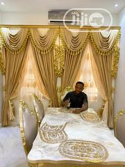 Turkish Board Designed Curtain With Double Fabric | Home Accessories for sale in Lagos State, Ojo