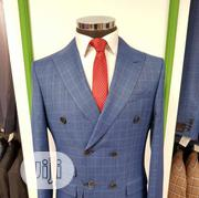 Turkish Brands Liteblue Check Double Breasted Suits by MC | Clothing for sale in Lagos State, Lagos Island