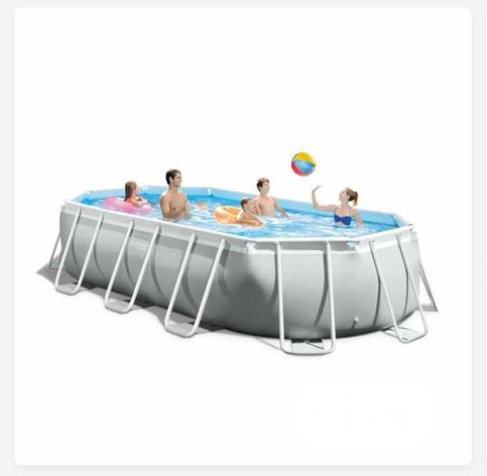 Intex Tube-shaped Oval Above Ground Pool