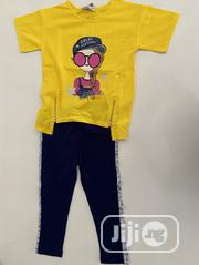Trendy Yellow Top And A Sequence Trouser Available For Kids Age 5-10   Children's Clothing for sale in Lagos State, Ajah