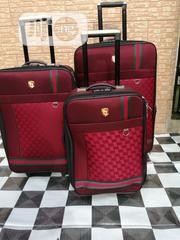 4 Spinner Wheel Trolley Traveling Bags (3 Sets) Red Colored | Bags for sale in Lagos State, Ikeja