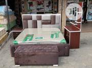 High Quality King Sized Bed Frame With Bed   Furniture for sale in Lagos State, Ojo