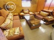 7 Seater Sofa Fabric And Leather With Center Table | Furniture for sale in Lagos State, Ajah