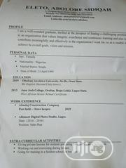 Human Resources CV | Human Resources CVs for sale in Lagos State, Ajah