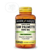 Mason Natural Saw Palmetto 500 Mg-90 Capsules | Vitamins & Supplements for sale in Lagos State, Gbagada