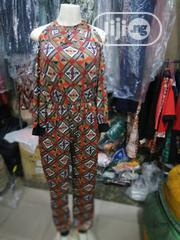 Beautiful Lacra Jumpsuit With Ankara Patterns | Clothing for sale in Lagos State, Orile