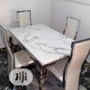 Four Seaters Marble Dining Set | Furniture for sale in Lagos State, Alimosho
