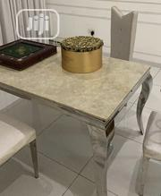 Marble Dining Table With 4 Chairs for Sale | Furniture for sale in Lagos State, Ikoyi