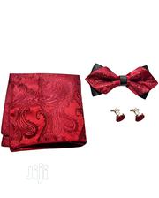 Men 2-step Bow Tie - Wine/Black | Wedding Wear for sale in Lagos State, Amuwo-Odofin