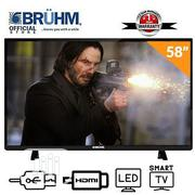 Bruhm 58-Inch Smart 4K UHD LED TV+Wall Bracket+12 Months Warranty | TV & DVD Equipment for sale in Abuja (FCT) State, Wuse