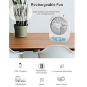 "Rechargeable 6"" Li-Ion Battery Fan With 