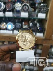 Gucci Black Leather Strap For Men | Watches for sale in Lagos State, Ikeja