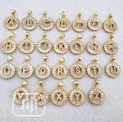 Stoned Alphabet Pendant With Chain | Jewelry for sale in Lagos State, Lagos Island
