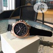 Michael Kors Chronograph Rose Gold Rubber Strap Watch   Watches for sale in Lagos State, Lagos Island