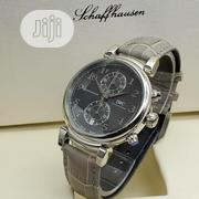IWC Chronograph Silver Leather Strap Watch   Watches for sale in Lagos State, Lagos Island