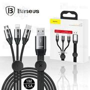 Baseus Car Co-sharing 1m 3.5A 3 In 1 USB To USB-C Data Cable | Computer Accessories  for sale in Lagos State, Ikeja