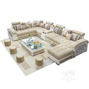 Sectional U-Shaped Sofa Chairs With Table and Stools. Fabric Couch   Furniture for sale in Lagos State, Ikeja