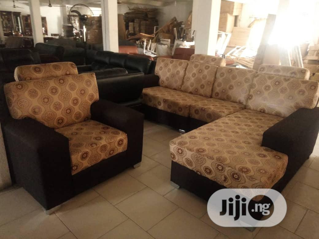 L Shape Quality Sofas Chair | Furniture for sale in Ojo, Lagos State, Nigeria