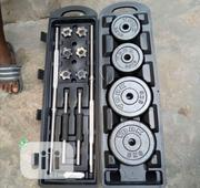Case Dumbbell 50kg With Long Barbell   Sports Equipment for sale in Lagos State, Gbagada