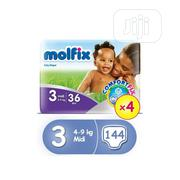 Molfix Comfortfix Diapers, Size 3 (X 4) (Total 144 Count) | Baby & Child Care for sale in Lagos State, Oshodi-Isolo