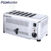 Stainless Steel Table Top 6 Slice Function Toaster Pop Up | Kitchen Appliances for sale in Lagos State, Ojo