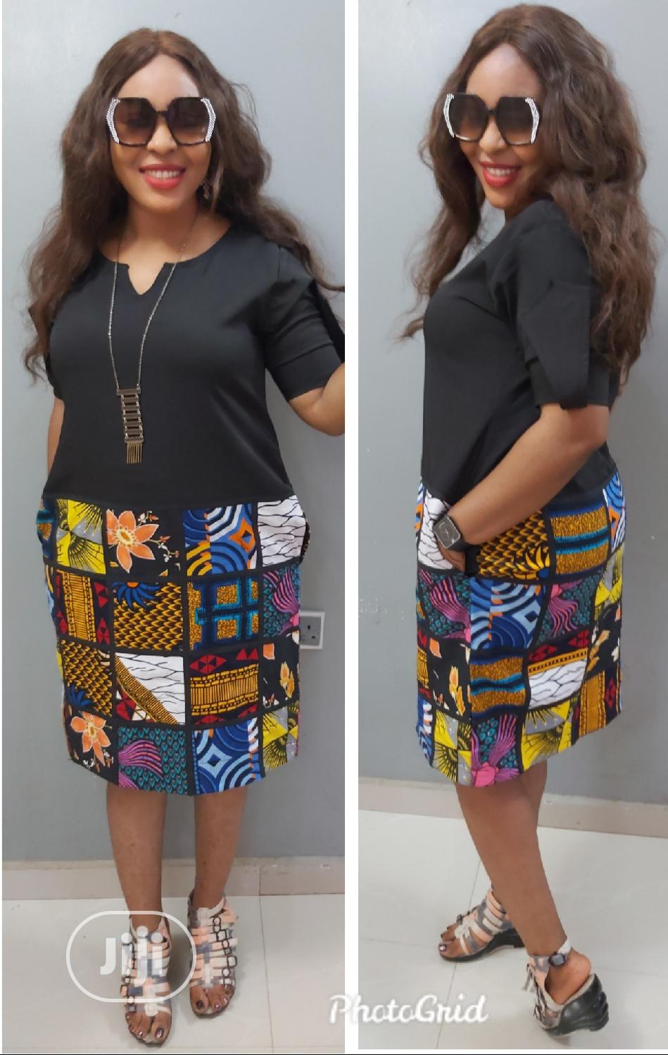 Ruby Mixed Dress   Clothing for sale in Gwarinpa, Abuja (FCT) State, Nigeria