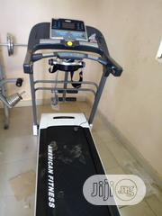Heavy Duty American Fitness 2.5hp Treadmill With Massager Dumbbell Mp3 | Sports Equipment for sale in Lagos State, Surulere