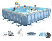 """Intex 16' X 48"""" Prism XL Frame Square Pool Set With Filter Pump 