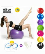 Aerobic Exercise Anti Burst Gym Ball With Pump | Sports Equipment for sale in Lagos State, Victoria Island