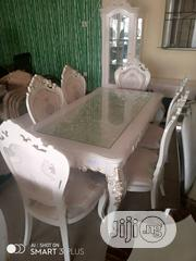 Sweet Polished White Mable Finished Dinning Set | Furniture for sale in Lagos State, Ajah
