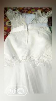 Elbow Sleeve Lace Knees Bow Wedding Grown | Wedding Wear for sale in Edo State, Benin City