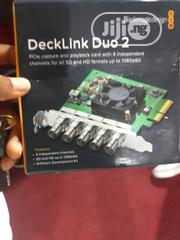 Blackmagic Design Decklink Duo 2 4ch SDI Playback And Capture Card | Accessories & Supplies for Electronics for sale in Lagos State, Ojo