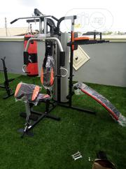 Brand New 4 Station Multi Gym With Punching Bag and Sit Up Bench | Sports Equipment for sale in Lagos State, Lekki Phase 2