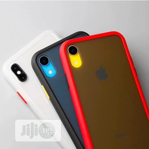 Apple iPhone XR/X/XS/XS MAX Luxurious Matte Shockproof Armour Case | Accessories for Mobile Phones & Tablets for sale in Ikeja, Lagos State, Nigeria
