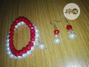 Red And White Bracelet With Earrings | Jewelry for sale in Anambra State, Awka