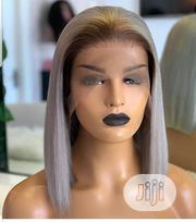 """12"""" Luxury Grey Frontal Wig. 