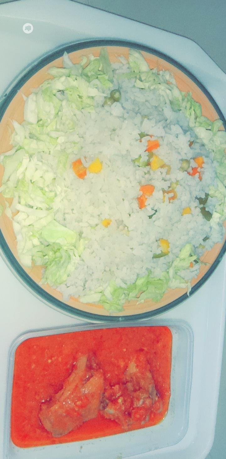 Garnished Noodles And Rice With Chicken Sauce | Meals & Drinks for sale in Lekki Phase 2, Lagos State, Nigeria
