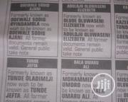 Newspaper Publication | Legal Services for sale in Lagos State, Ojota