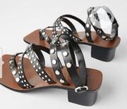 Ladies Studded Leather High Heels Sandals | Shoes for sale in Lagos State, Surulere