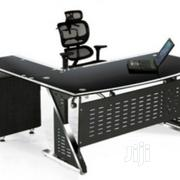 Executive 1.6 Meters Glass Office Table With Drawer and Extention | Furniture for sale in Lagos State, Ojo