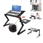T8 Adjustable Laptop Table With Usb Cooler Fan and Mouse Pad Tray   Computer Accessories  for sale in Lagos State, Surulere
