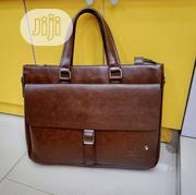 17 Inch Brown Leather Mont Blanc Mens Laptop Bag | Bags for sale in Lagos State, Lagos Island