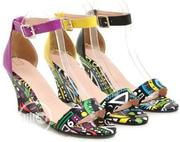 Summer 2020 Sandals Low-top Graffiti Open-toe Print Wedge Heel | Shoes for sale in Lagos State, Ikeja