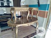 Unique Center Table With Two Sides Stools | Furniture for sale in Lagos State, Ikoyi