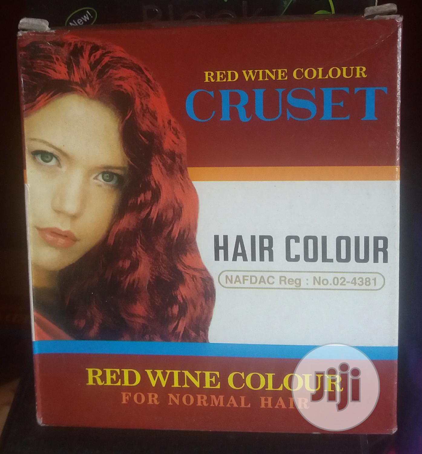 Hair Colorant Wine Red.