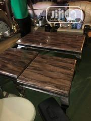 Unique Marble Top Center Table With Two Sides Stools | Furniture for sale in Lagos State, Ipaja