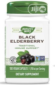 Nature's Way Black Elderberry Capsules, 1,150 Mg, 100 Capsules | Vitamins & Supplements for sale in Lagos State, Lekki Phase 1