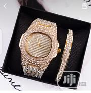 Gold Wristwatch And Bracelet   Jewelry for sale in Lagos State, Lagos Island
