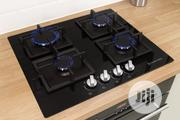 Russell Hobbs RH60GH402B Black Glass Burner Gas Hob | Kitchen Appliances for sale in Lagos State, Ojo